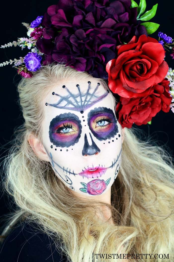 Sugar Skull Makeup Tutorial for Beginners Sugar skull