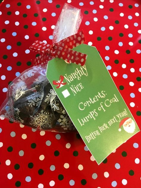 Lumps of Coal treats recipe plus free printable gift tags for your ...
