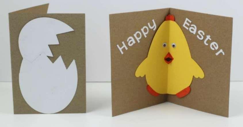 Bambini Pasqua ~ Pasqua lavoretti di cartoncino per bambini biglietto fai da te