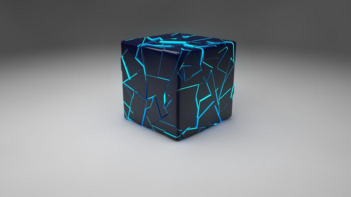 Cinema 4d Cube Digital Art 3d Wallpaper Art Cube Black And Blue Wallpaper Geometric Digital Wallpaper