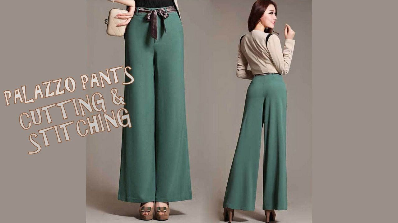 Palazzo Pants Cutting And Stitching With Pattern Ideas Of Sewing