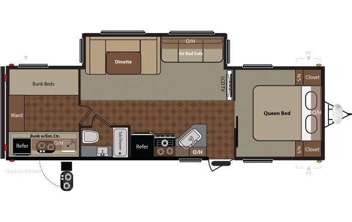 2014 Keystone Springdale 294bhssr Sleeps 10 Bunk Beds Small