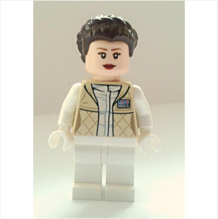 Lego Minifigure Princess Leia Hoth Outfit French Braid Hair Minifig Sw346 Princess Leia Minifig Lego Minifigures