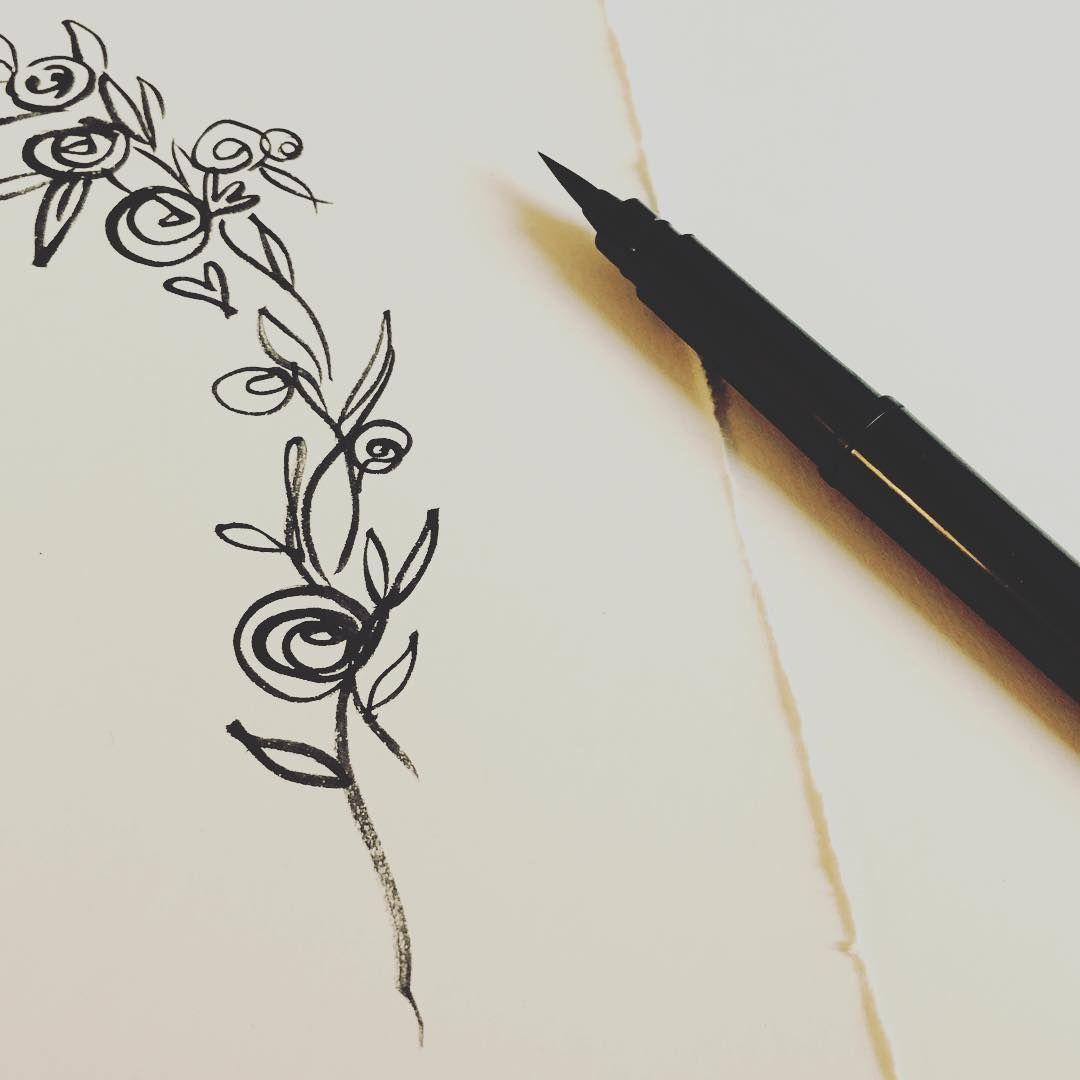 Brush pen for something special wedding illustration