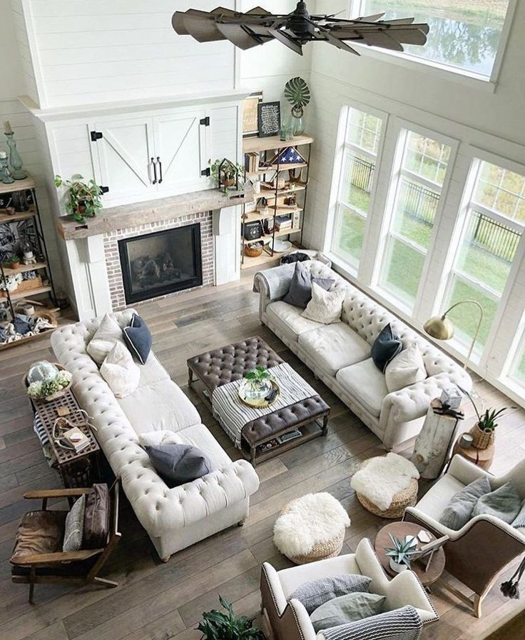 20+ Enchanting Open Living Room Design Ideas (With images ...