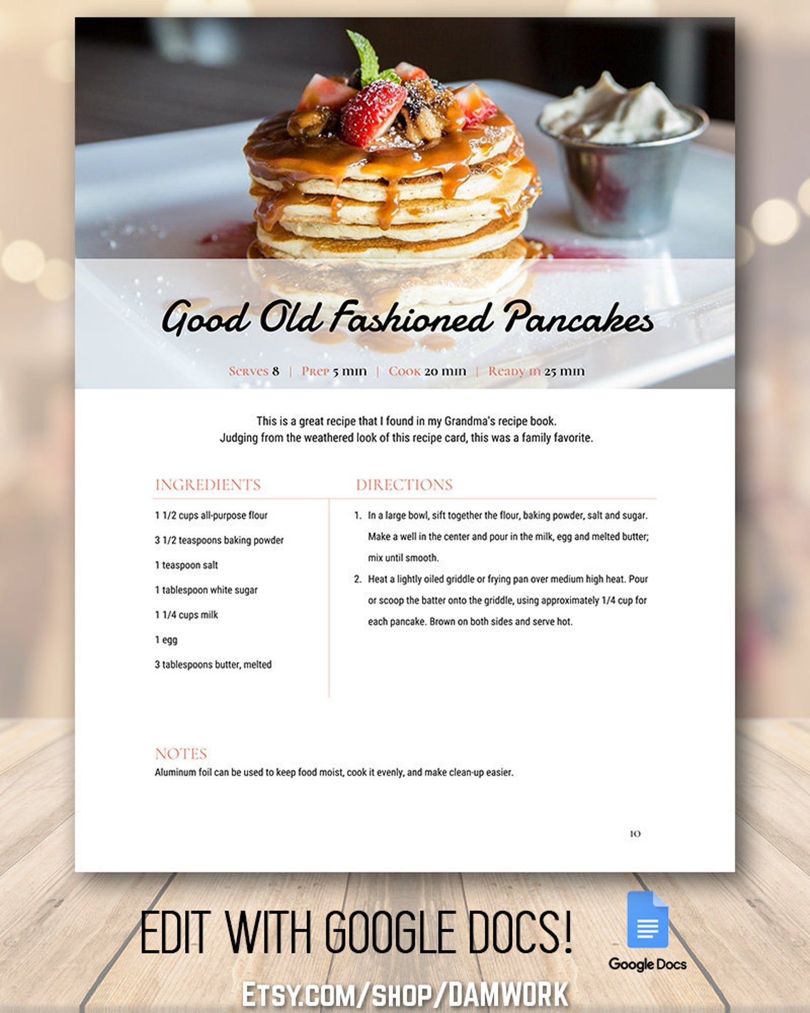 Recipe Book Template Frost Family Cookbook Editable Recipe Binder Customizable Modern Classic Rustic Farmhouse Style 5 Page Template Recipe Book Templates Recipe Book Design Cookbook Template