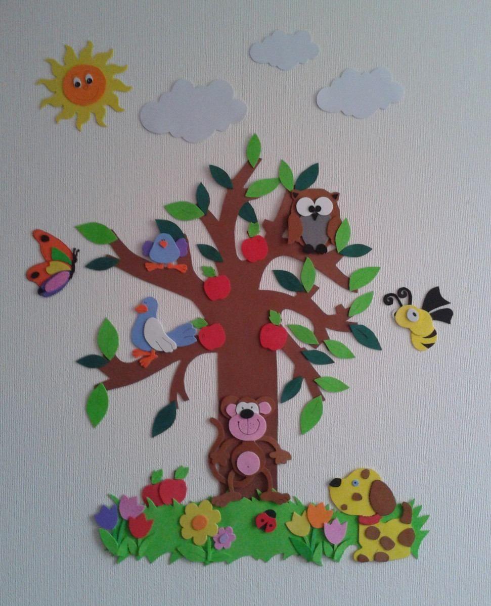 3ec2c0b472b Decoración Dormitorio Infantil En Goma Eva -   4.000 en MercadoLibre ...
