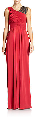 BCBGMAXAZRIA Quenby Gathered Gown on shopstyle.com
