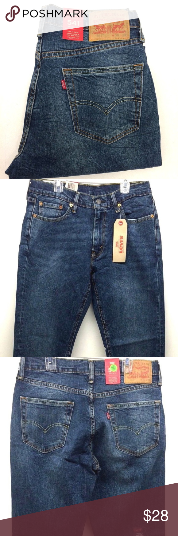 1a41c424 Levi's Men's 541 Athletic Fit Stretch Jeans 30x32 Inspired by professional  athletes and designed for you