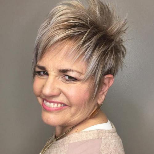 Layered Bronde Pixie For Older Women Modern Short Hairstyles Older Women Hairstyles Womens Hairstyles