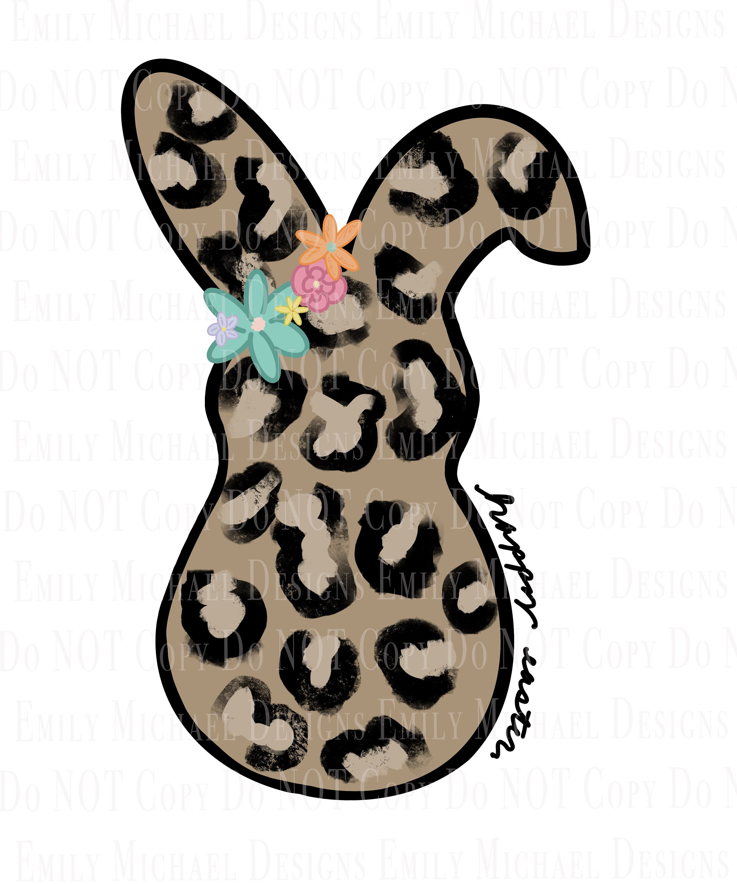 Happy Easter PNG Easter Gift Easter Leopard PNG Printable Instant Download Easter Shirts Bunny Easter PNG
