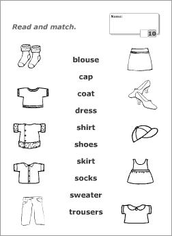 Clothes Worksheets La Ropa En Ingles Taller De Ingles Material Escolar En Ingles