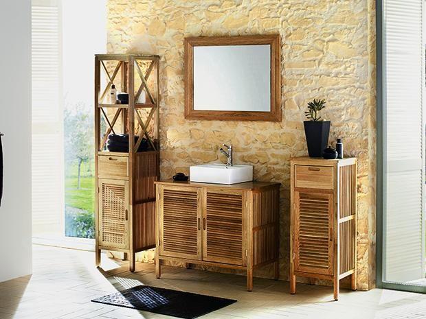 Der svenja waschbeckenunterschrank von bäderwelt ist aus hochwertigem walnussholz gefertigt und verleiht jedem bad ein warmes