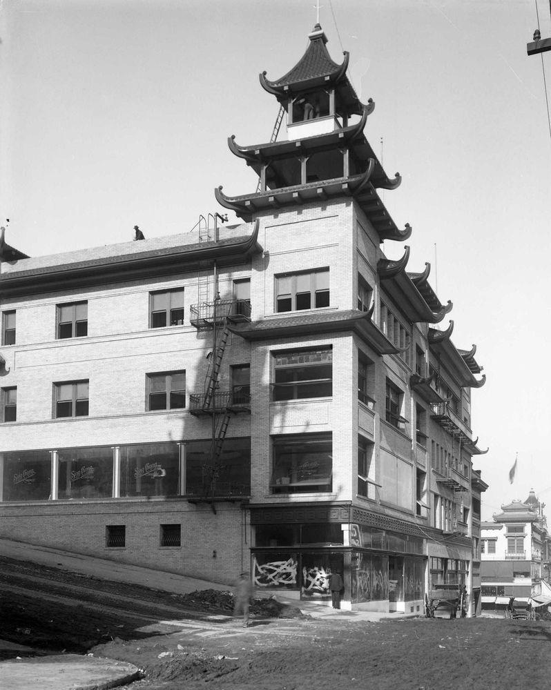 1906 san francisco earthquake w chinatown reconstruction original glass negative