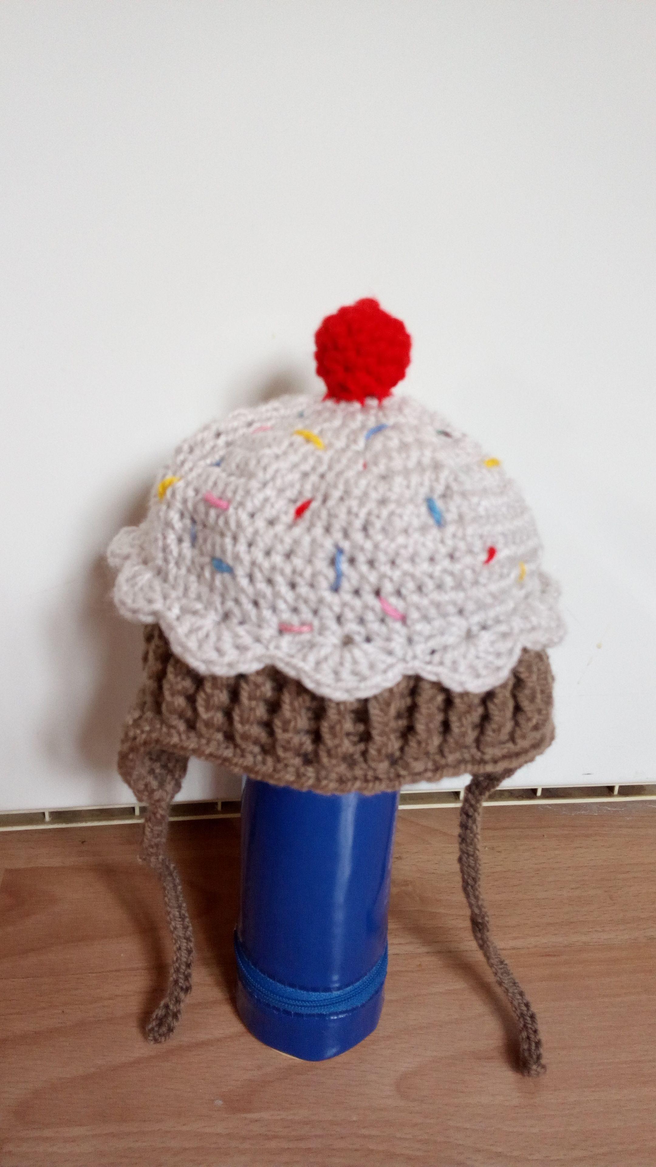 cupcake hat   Cupcake hats, Crochet hats, Hats