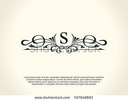 Calligraphic luxury line logo flourishes elegant emblem monogram black symbol decor for menu card invitation label restaurant cafe hotel vector line letter s stopboris Choice Image