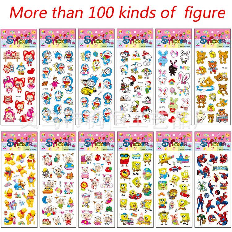 الأطفال ألعاب الكرتون ملصقات فقاعة ملصقات ملصقات أطفال لعب مكافأة ألعاب الطفولة المبكرة الكرتون طفل الروضة Cartoon Stickers Kids Toys Baby Toys