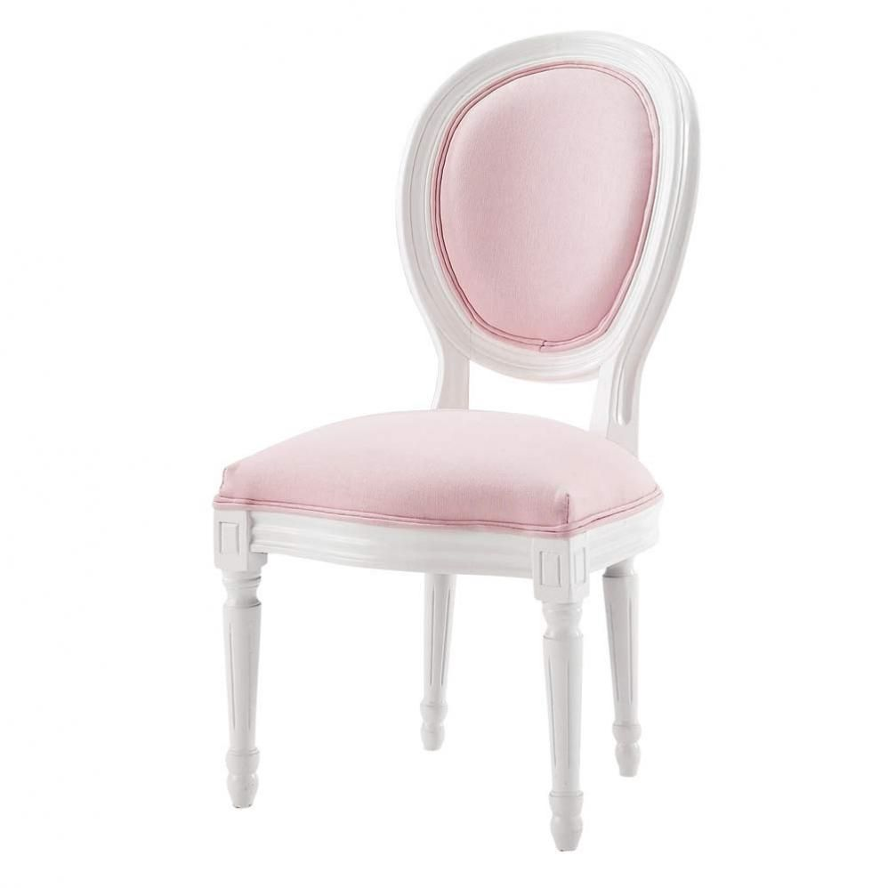chaise enfant rose chaise medaillon