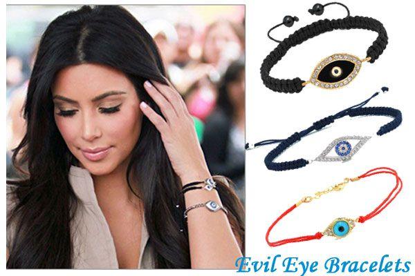 Kim K Rocking Some Evil Eye Jewelry Evil Eye Jewelry Celebrity Trends Thin Jewelry