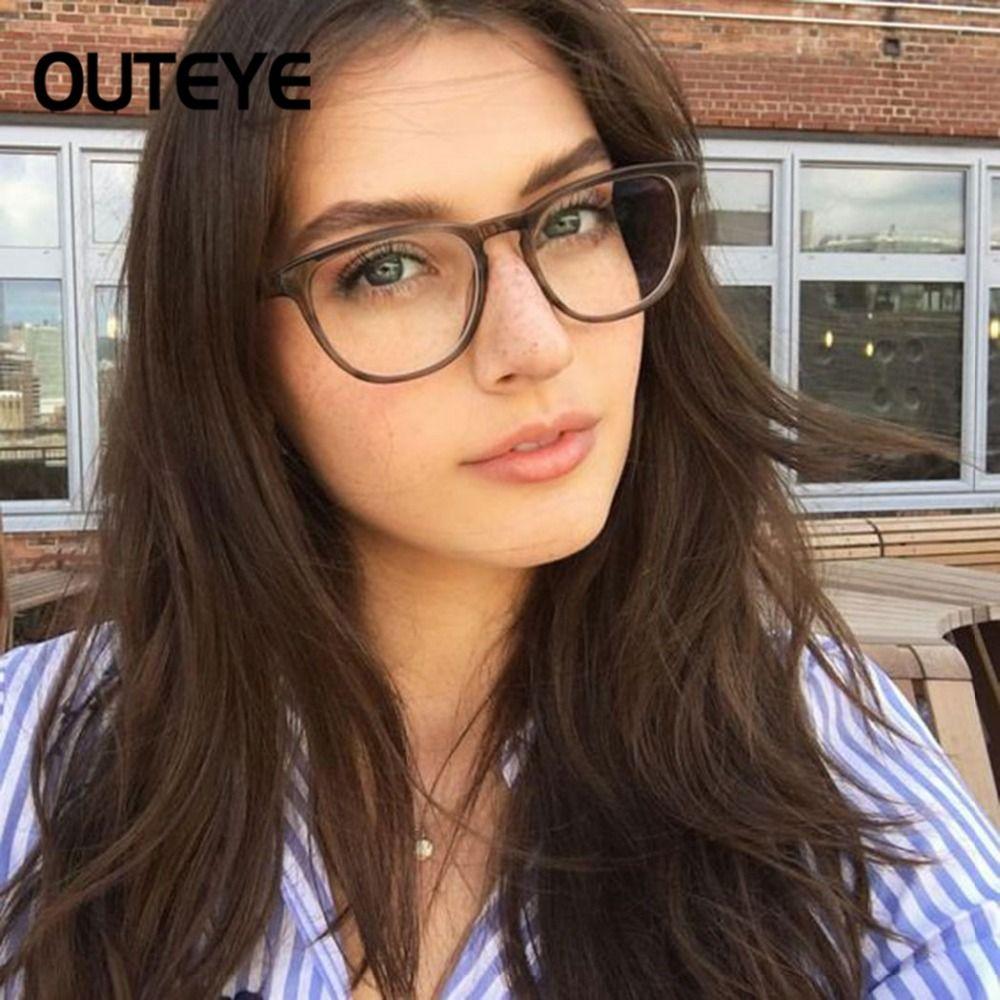 348c26c8c333 Transparent Computer Glasses Clear Fashion Eyeglasses Fake Optical Eye Glasses  Frames For Women Myopia Glass Spectacles