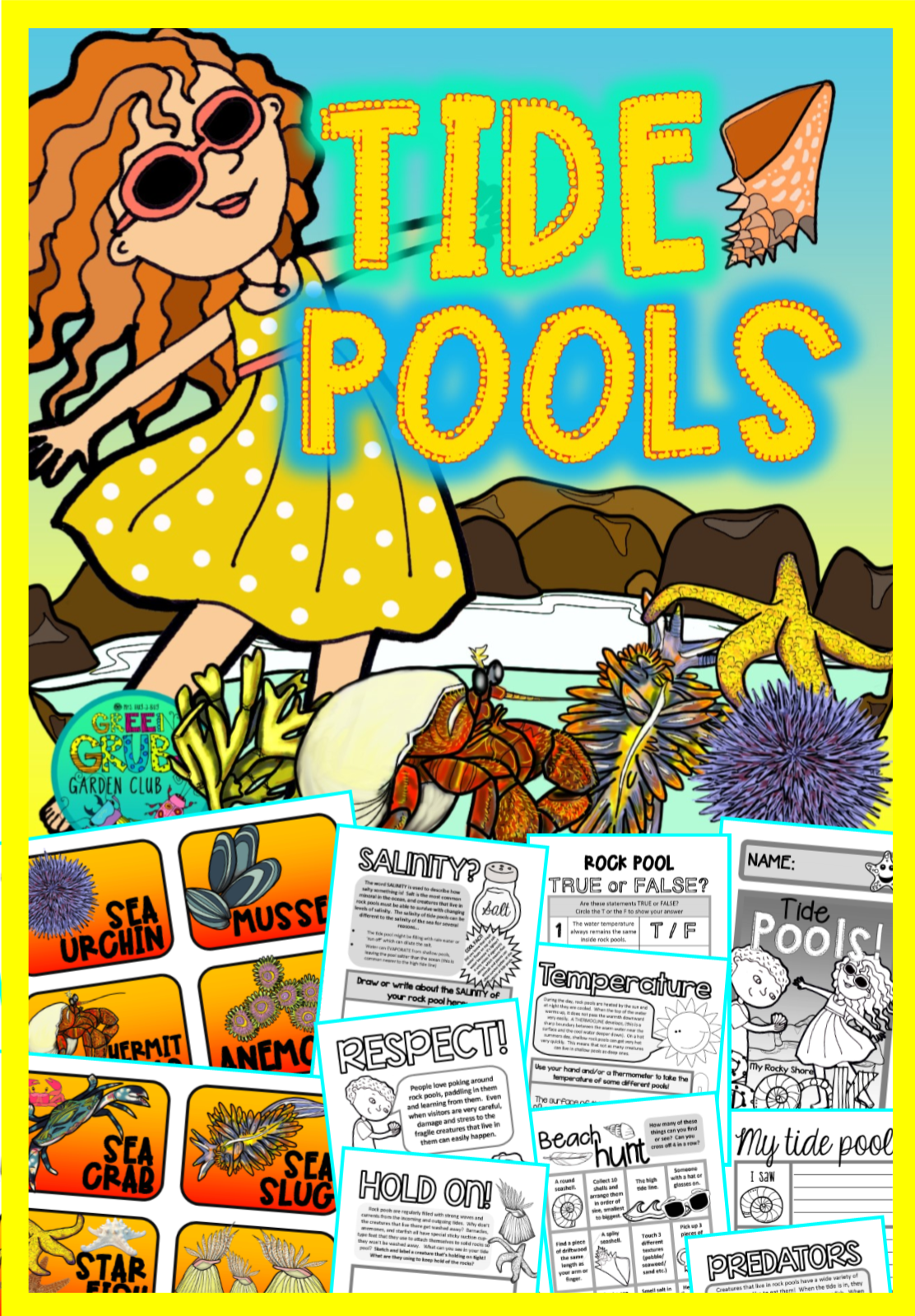 Tide Pools {Fun & facts about the Rocky Shore} Tide