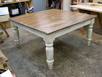 5 Square Pine Farmhouse Table Rustic Farmhouse Table Wooden