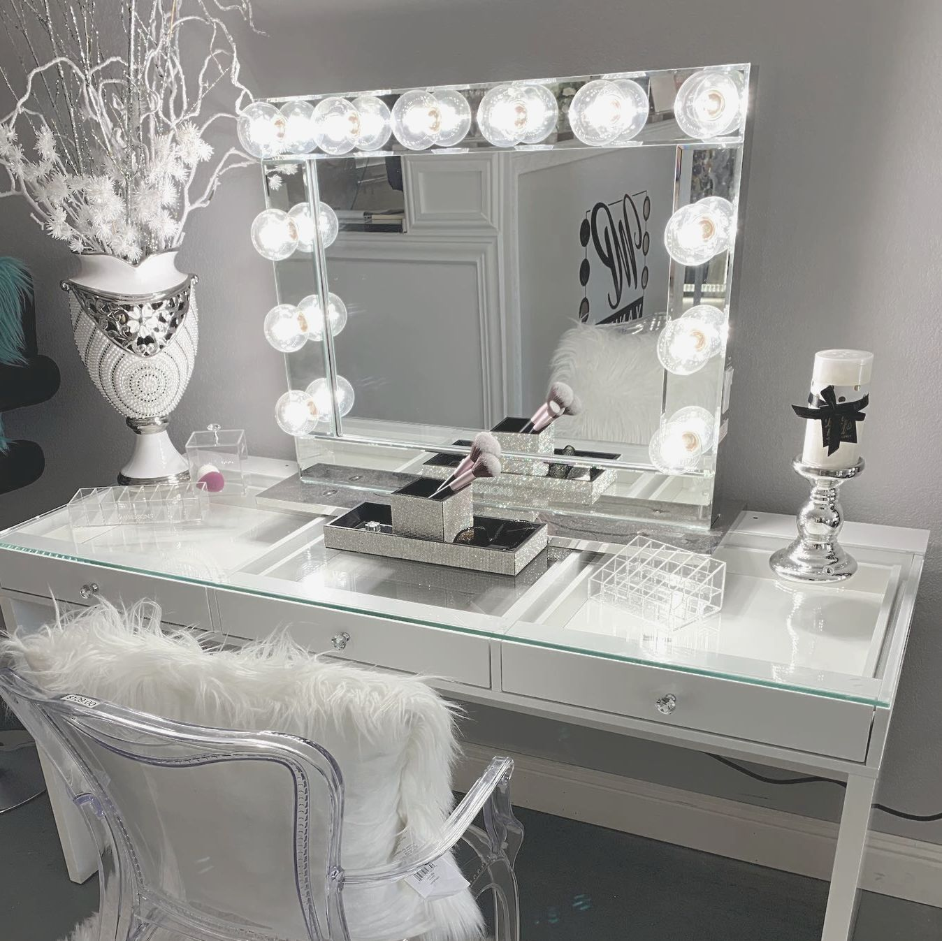 Hollywood Reflection Plus Vanity Mirror With Images Makeup