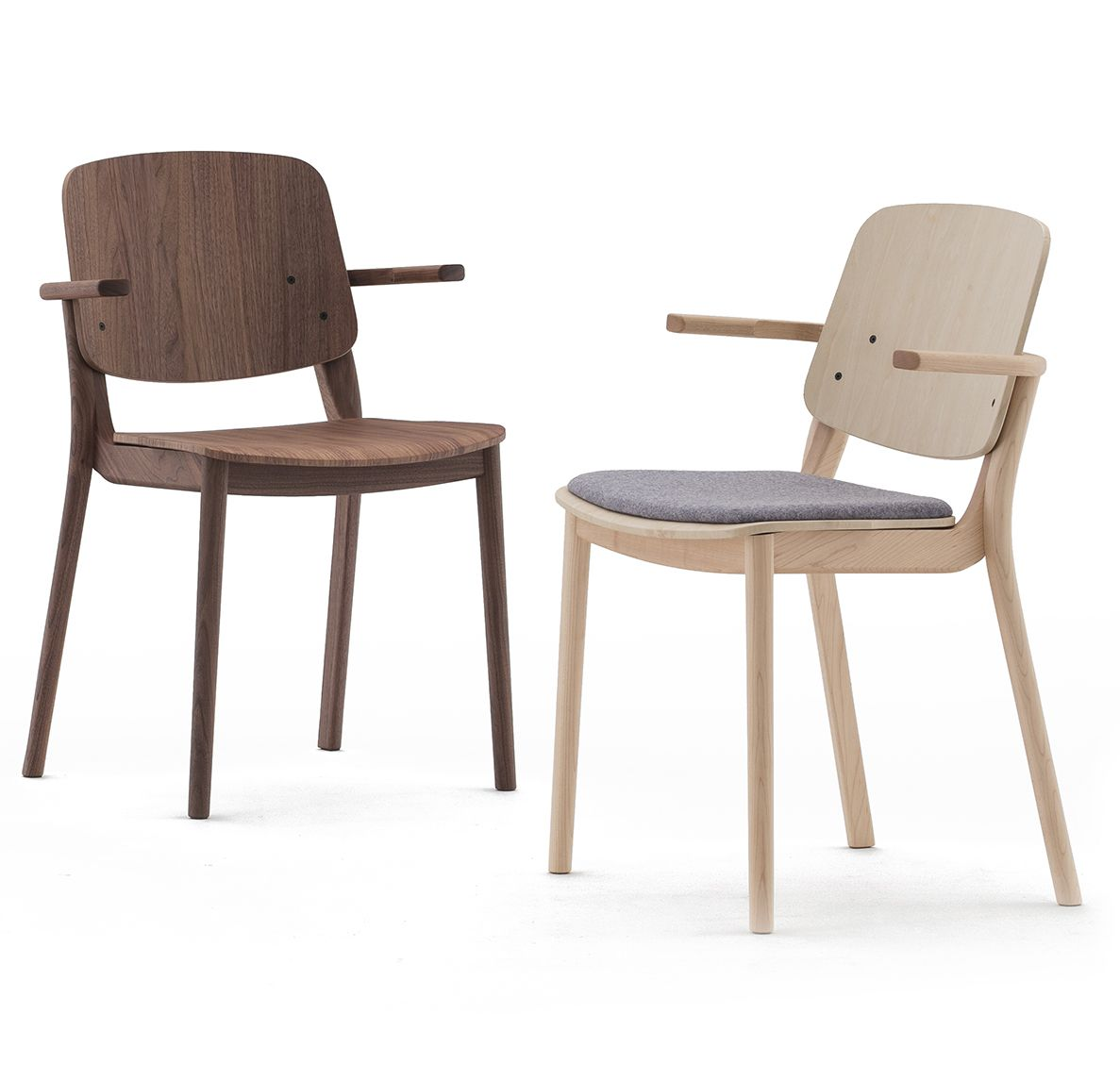 Mia stacking chair by Jin Kuramoto for Japanese design brand