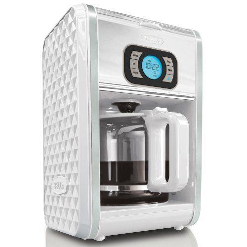 Bella Diamonds Collection 44 99 12 Cup Programmable Coffee Maker Grey White Fushia