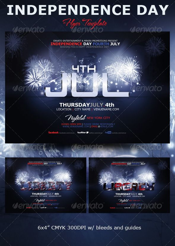 liberty 4th july flyer template events flyers 4th july flyer