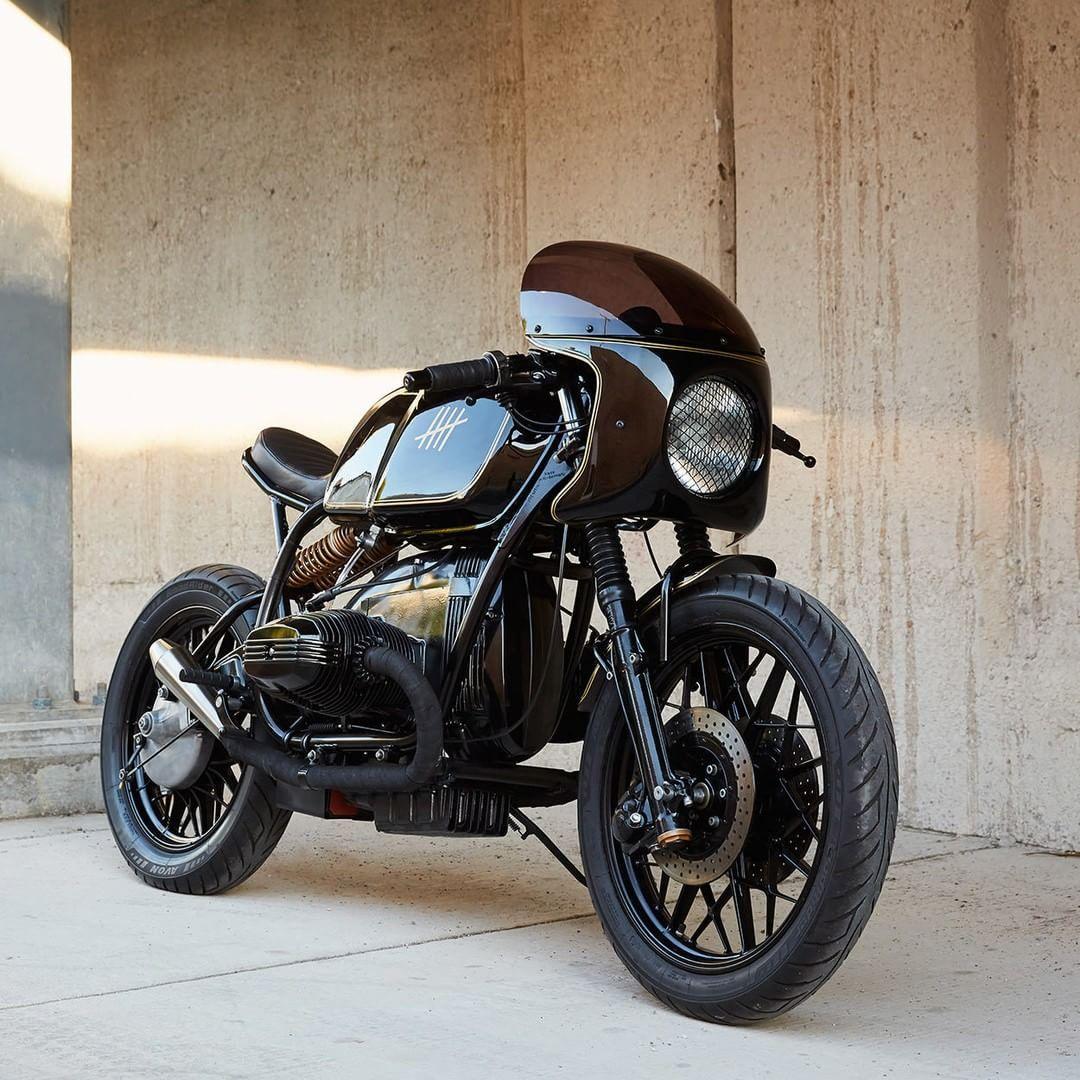bmw r100 cafe racer by federal moto photo by daniel. Black Bedroom Furniture Sets. Home Design Ideas