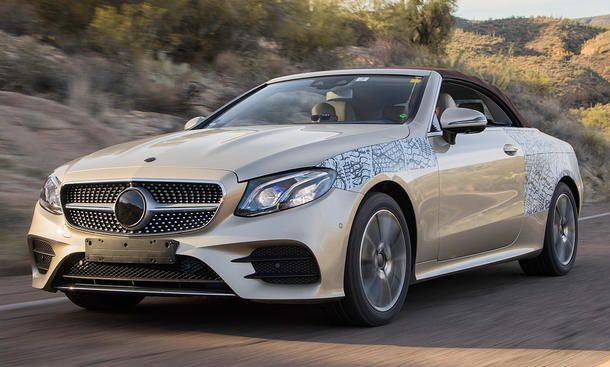 Neues Mercedes E Klasse Cabrio 2017 Erste Testfahrt Mercedes