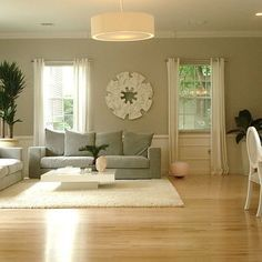 Natural White Oak Floors Living Room