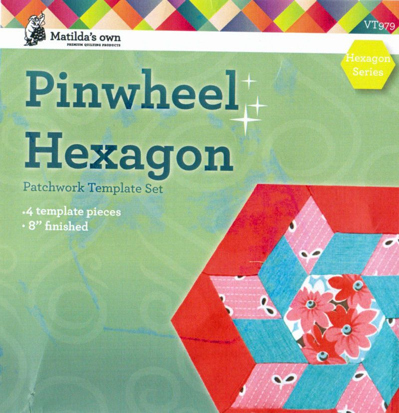 Matildas Own Pinwheel Hexagon Patchwork Template Set