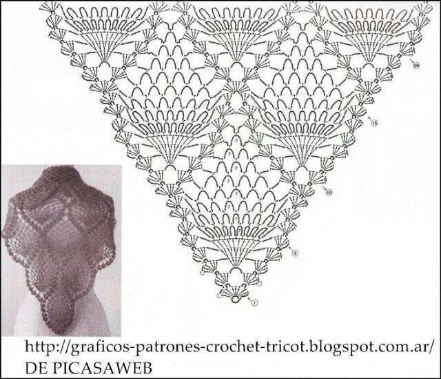 Chal crochet pattern | Chales para tejer | Pinterest | Chal ...