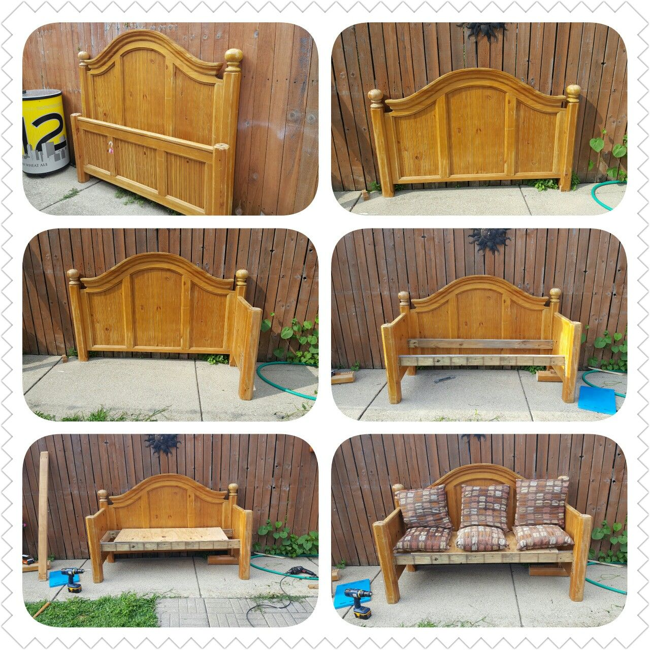 Queen head board bench Headboard benches, Diy projects