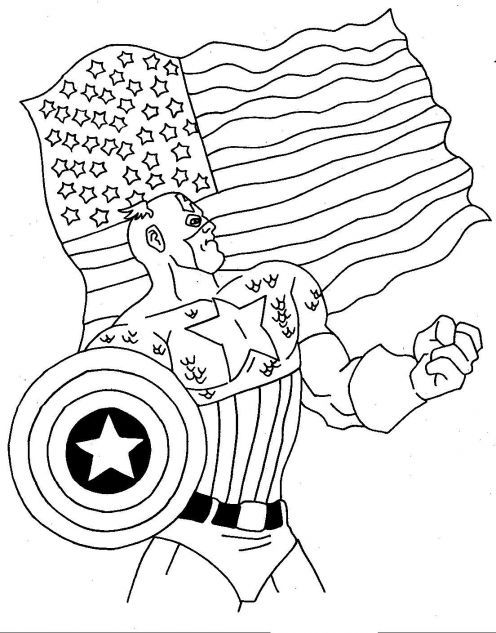 Captain America Coloring Pages And Sheets Find Your Favorite Cartoon Picures In The Library
