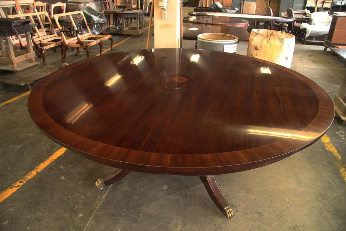 Astonishing Used Large Round Dining Table