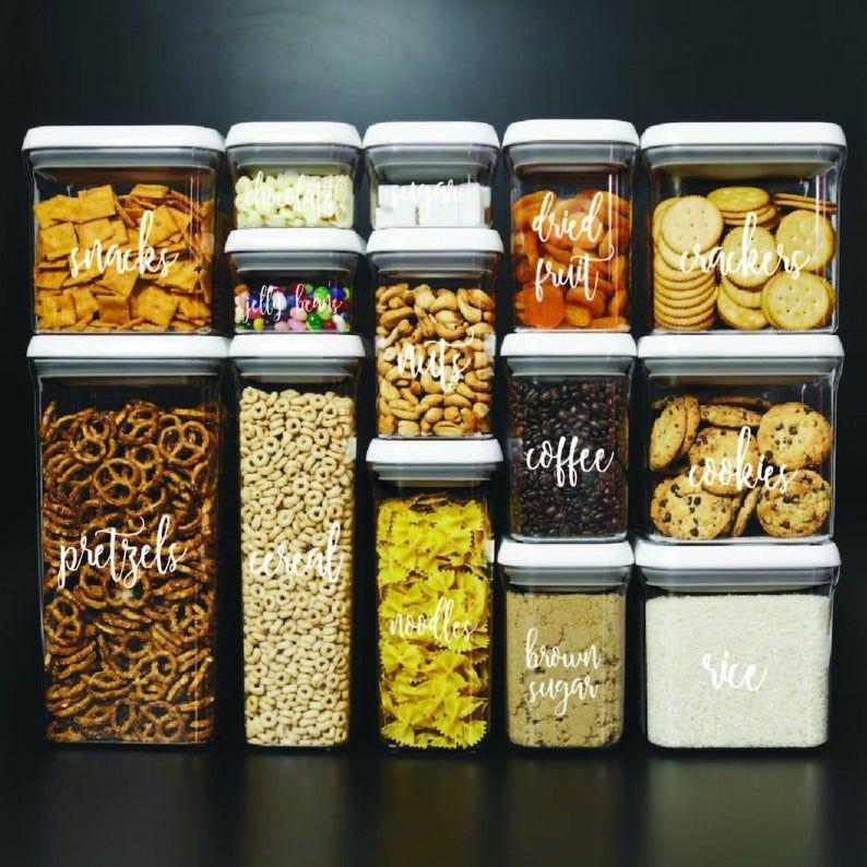 Custom Kitchen Jar Labels, Personalized Kitchen Labels