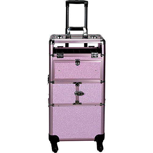 f6d33cf9e SALE PRICE - $181.96 - Sunrise Centani 2-in-1 Rolling Makeup Case  Professional Nail Travel Organizer Box