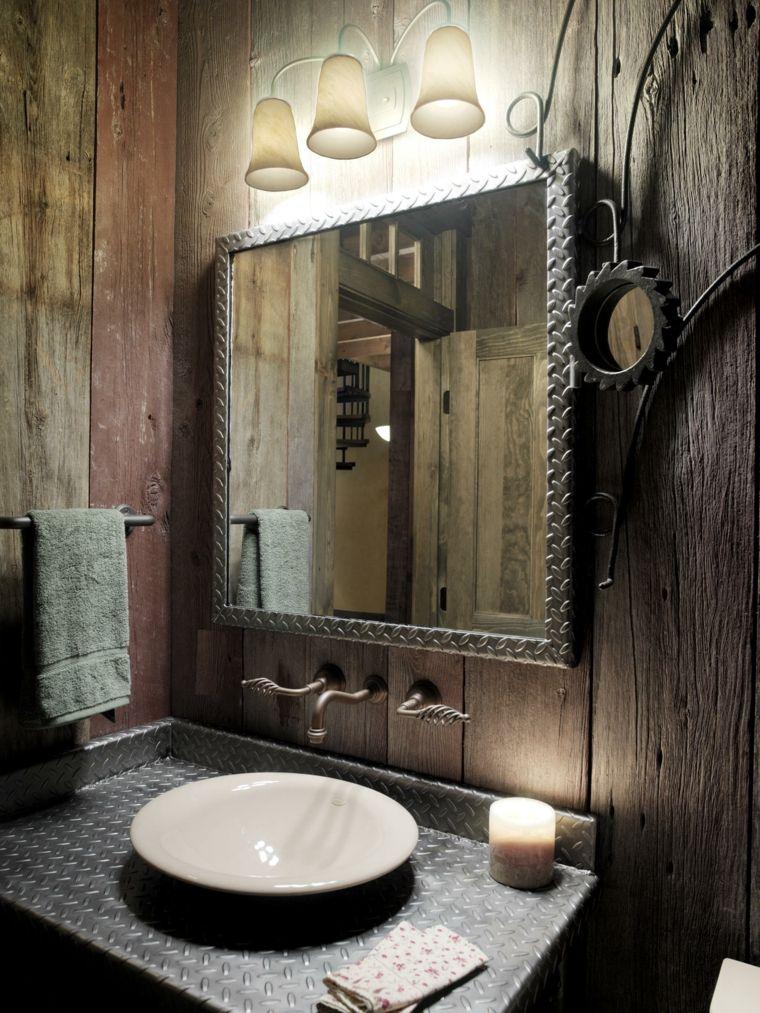 lavabo rústico con encimera de metal Baños Pinterest Lavabos - lavabos rusticos