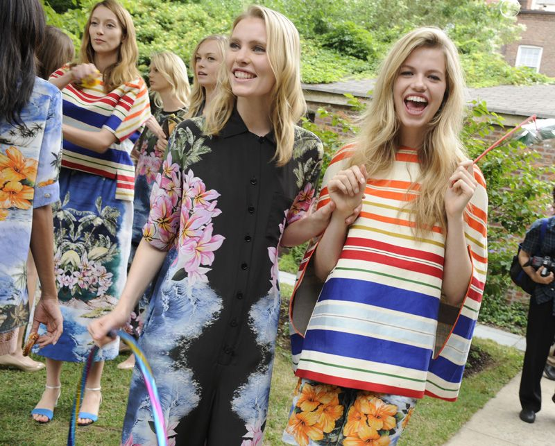 Stella McCartney Florals/Stripes still work so well