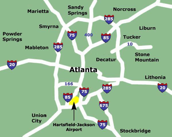 Atlanta Airport Map Atlanta Airport Hartsfield Jackson Atlanta International Airport Airport Map