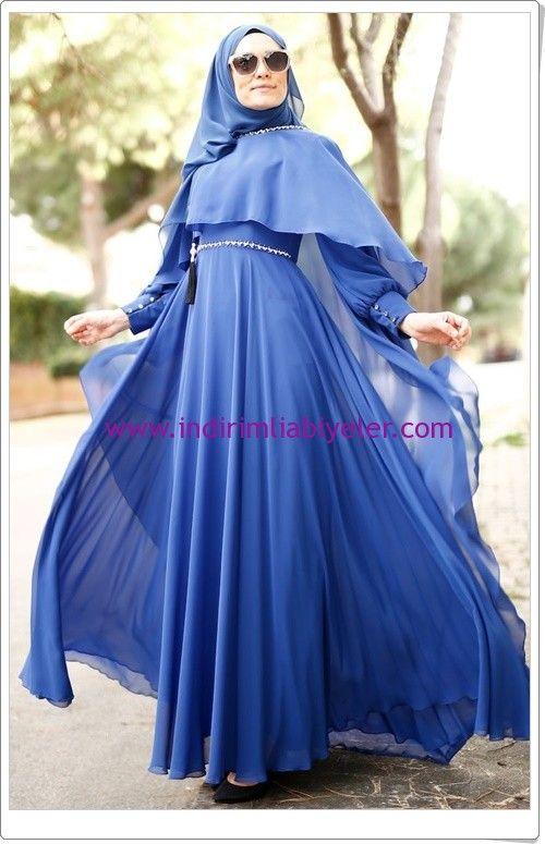 Sefamerve Saks Pelerinli Abiye Elbise 430 Tl Elbise Victorian Elbiseler Balo Elbisesi