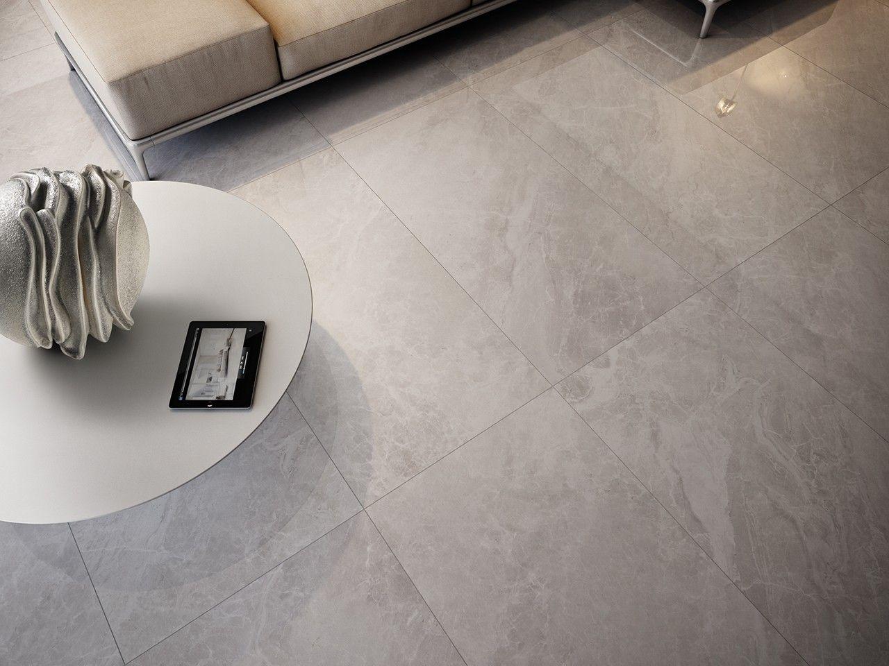 Dipingere Pavimento In Gres piastrella luni grigio 60x60 lappato effetto marmo
