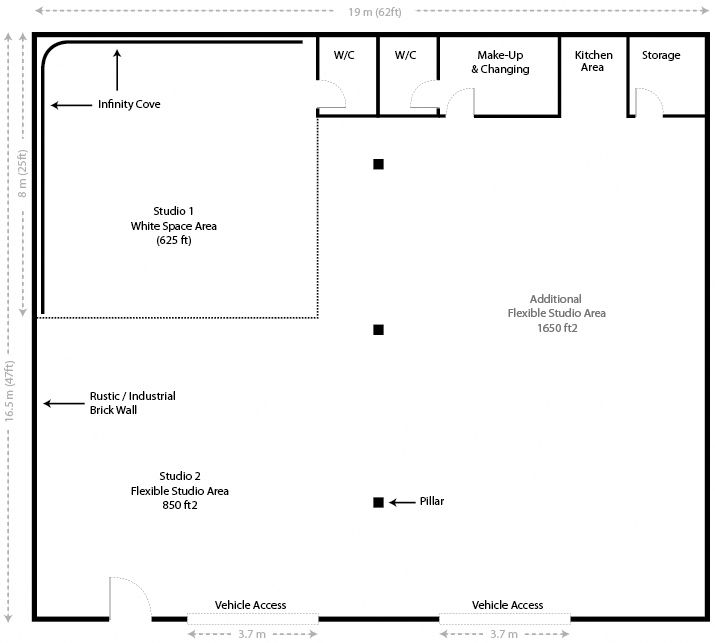 Studio Layout - The Big White Space