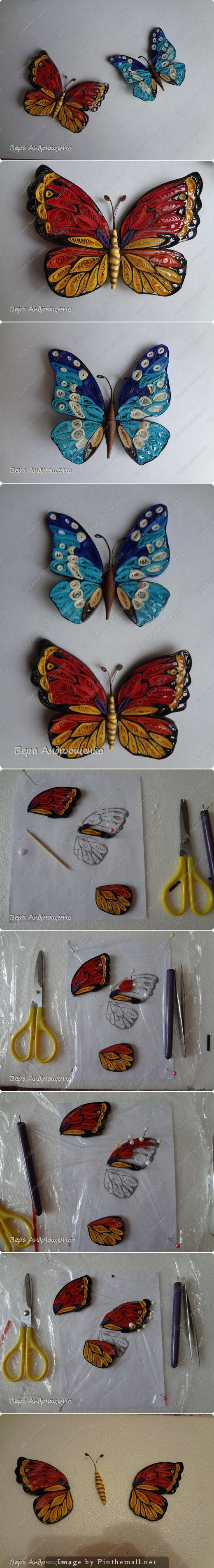 BUTTERFLY TUTORIAL http://stranamasterov.ru/node/660363 - created ... for Quilling Butterfly Tutorial  58cpg