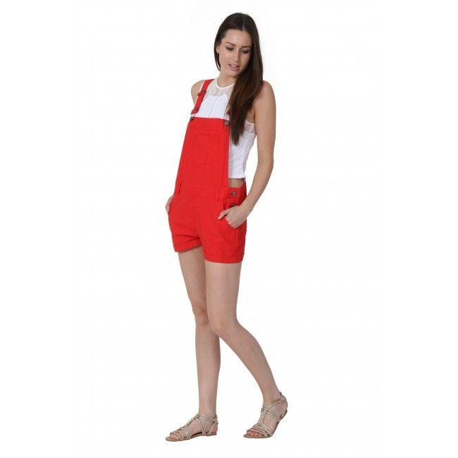 7418d2aca13 USKEES ANNA Red Dungaree Shorts.  shortalls  biboverallshorts  WearUS