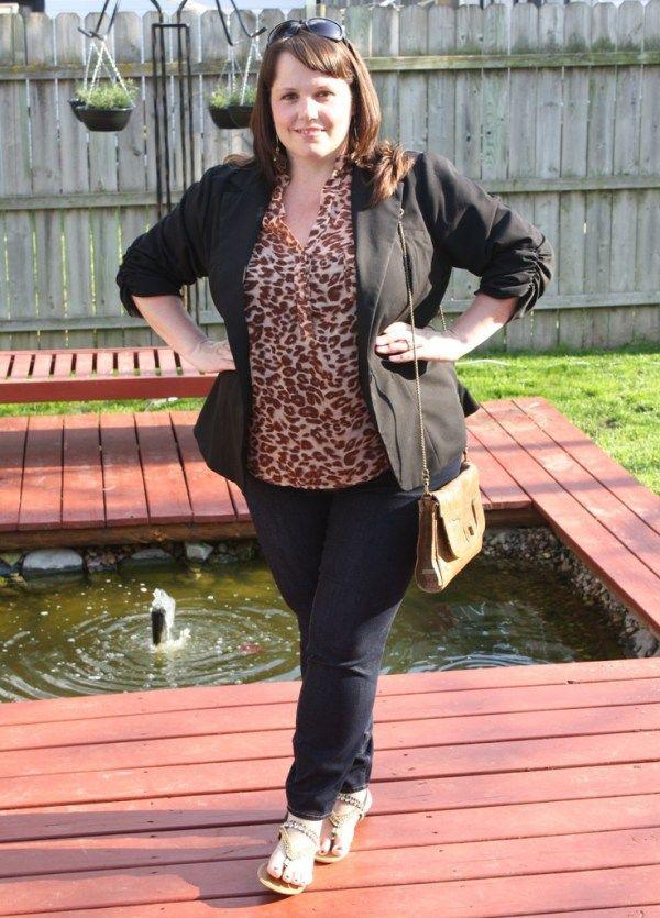 Crystal  Outfit Details: Blouse – Forever 21+ Jeans – Old Navy Rockstar Blazer – Torrid Sandals – Famous Footwear Bag – Jessica Simpson Sunnies – Target Earrings – Kohl's