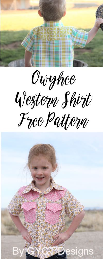 Free Owyhee Western Shirt Pattern For Hank Clementine Fabric Tour